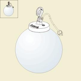 Lampe à poser Grumo boule Gris métal Luminaire extérieur Roger Pradier