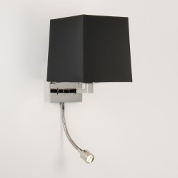Applique Azumi nickel poli avec liseuse LED