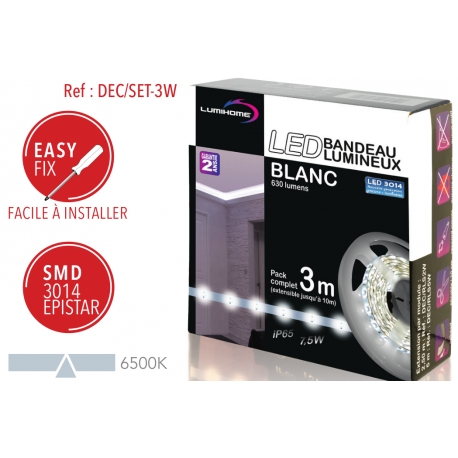 Ruban LED Blanc froid 3m Lumihome