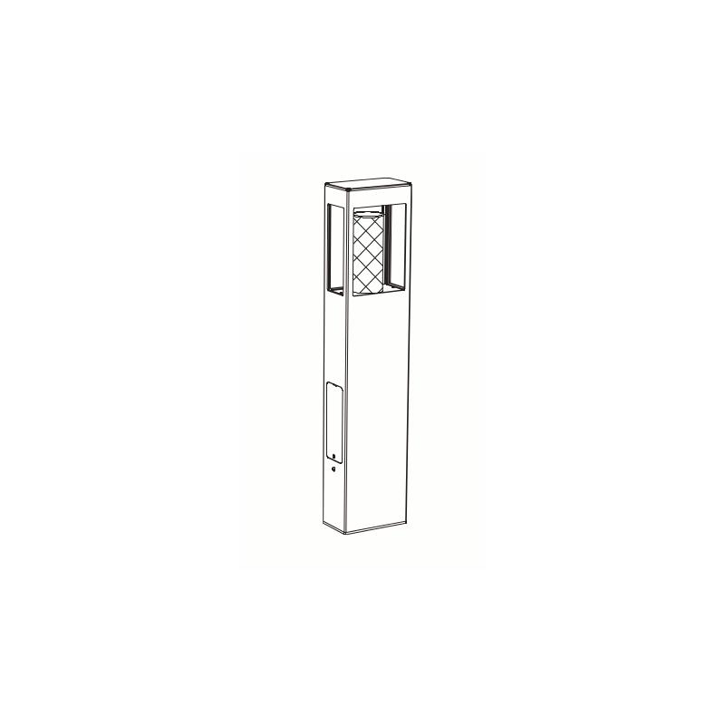 borne led tetra blanche 80cm roger pradier. Black Bedroom Furniture Sets. Home Design Ideas