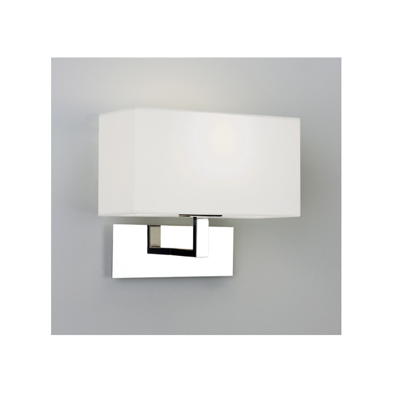 applique murale park lane chrome avec abat jour blanc astro lighting. Black Bedroom Furniture Sets. Home Design Ideas