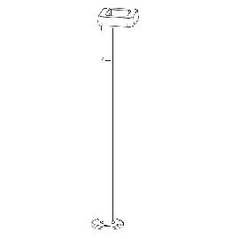Borne extérieure LED Square blanche 125cm