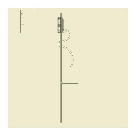 Luminaire Picto spike à planter en PMMA blanc Roger Pradier