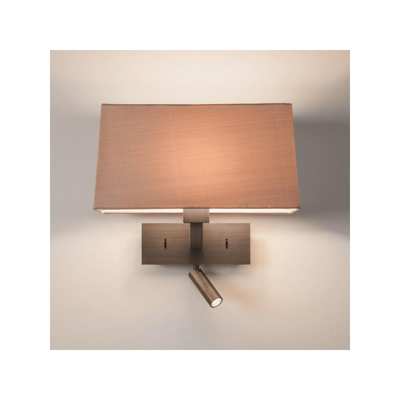 applique murale park lane reader bronze avec liseuse led astro lighting. Black Bedroom Furniture Sets. Home Design Ideas