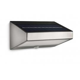 Applique murale solaire LED Greenhouse inox avec détecteur Philips