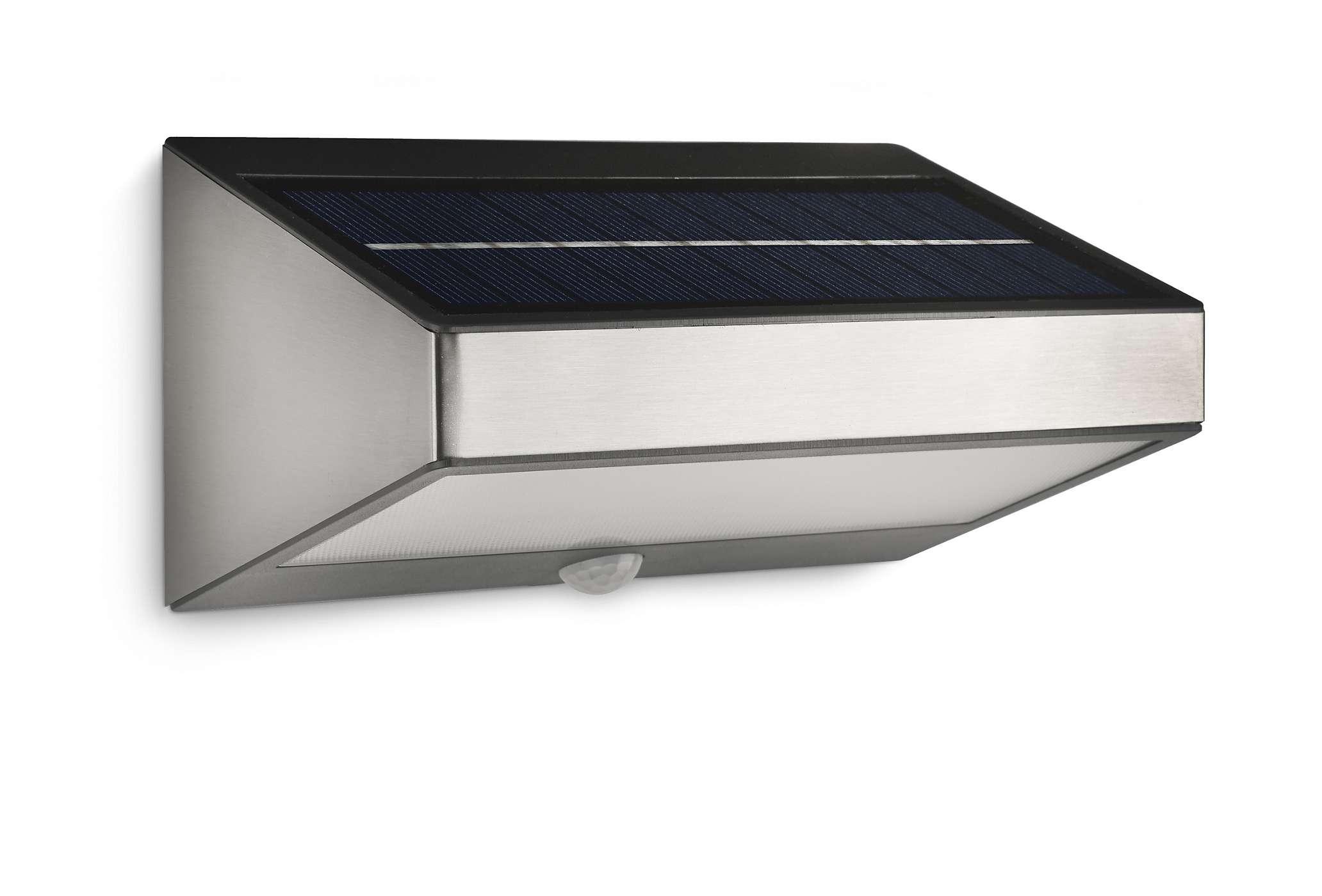 luminaire exterieur solaire avec detecteur