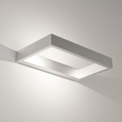 Applique murale LED D-light aluminium brossé