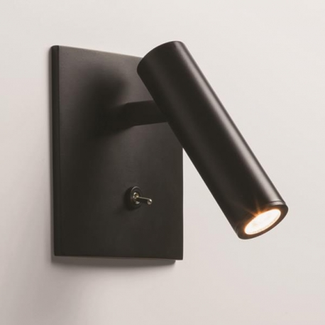Applique murale LED encastrable Enna noire avec interrupteur Astro Lighting
